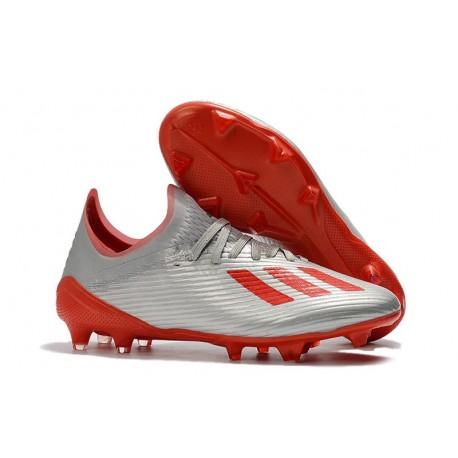 Scarpa da Calcio adidas X 19.1 FG Uomo Gris Rosso