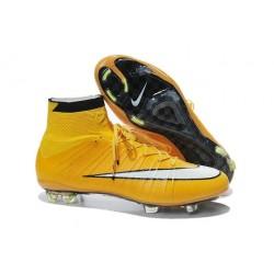 2015 Scarpe calcio Nike Mercurial Superfly FG - Uomo - Giallo Bianco Nero