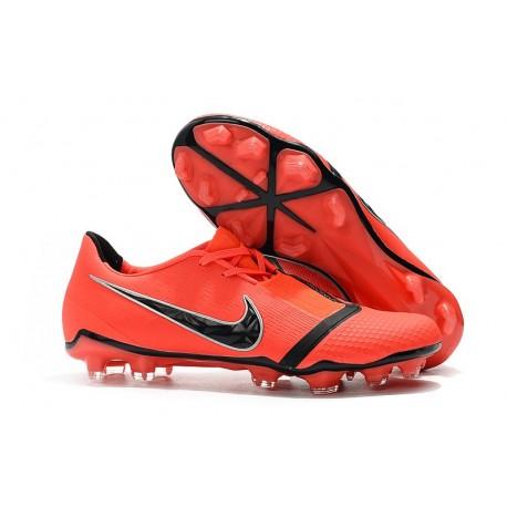Scarpa Nuovo Nike Phantom Vnm Elite FG Rosso Nero
