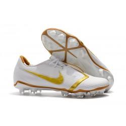 Scarpa Nuovo Nike Phantom Vnm Elite FG Bianco Oro
