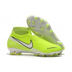 Nike Phantom Vision Elite Dynamic Fit FG Volt Bianco