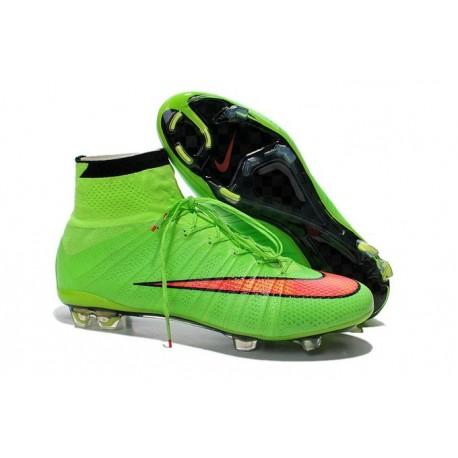 2015 Scarpe calcio Nike Mercurial Superfly FG - Uomo - Verde Rosso Nero