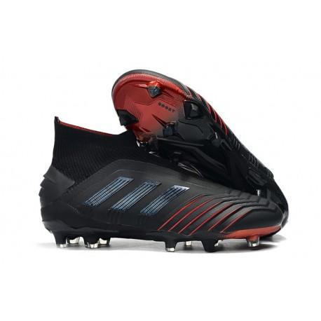 Scarpa da Calcio Nuovo adidas Predator 19+ FG Nero Rosso