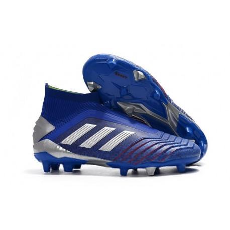 Scarpa da Calcio Nuovo adidas Predator 19+ FG Blu Argento