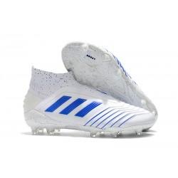 Scarpa da Calcio Nuovo adidas Predator 19+ FG Bianco Blu