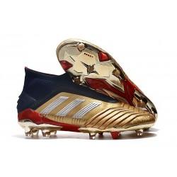 Scarpa da Calcio Nuovo adidas Predator 19+ FG Oro Rosso
