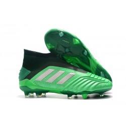 Scarpa da Calcio Nuovo adidas Predator 19+ FG Verde Argento