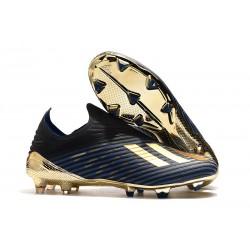 adidas X 19+ FG Nuovo Scarpa da Calcio - Nero Oro Blu